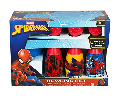 Sambro SPE-3179 Spiderman Bowling-Set, Rot