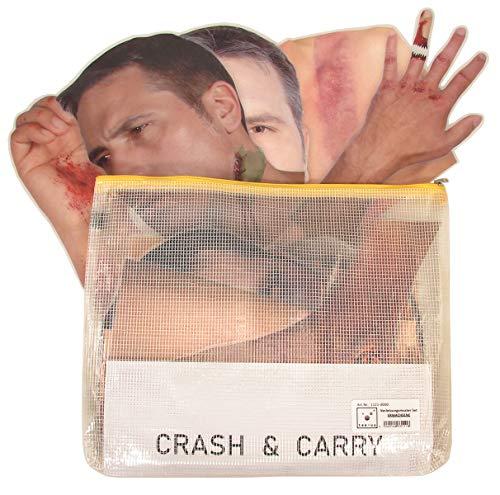 tee-uu VERLETZUNGSMUSTER-SET (Set aus 36 Einzelfolien) für CRASH & CARRY Übungspuppe
