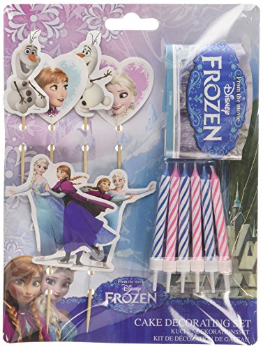 Disney Frozen 999266 Tortendekorationsset, sortiert, 19-teilig