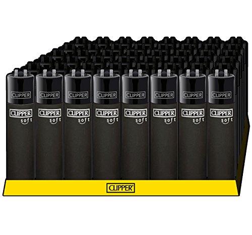 Clipper® Feuerzeuge - Soft Touch All Black- 48er Box