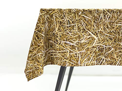 FOONKA tafelkleed 140x280 cm, 100% katoen, katoen, katoen, stro, beige, bruin