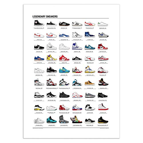 WALL EDITIONS Art-Poster 50 x 70 cm - Legendary Sneakers - Olivier Bourdereau