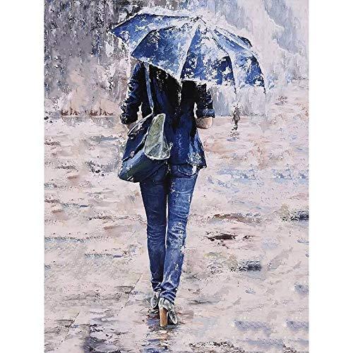 Lonfenner Xhzzdhbc Verf Door Nummers Paar Paraplu Jeans Figuur Diy Digitale Schilderen Door Nummers Moderne Muur Kunst Canvas Schilderen Unieke Gift