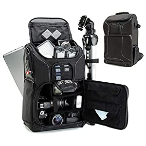 USA Gear Digital SLR Camera Backpack with Laptop Compartment and Rain Cover