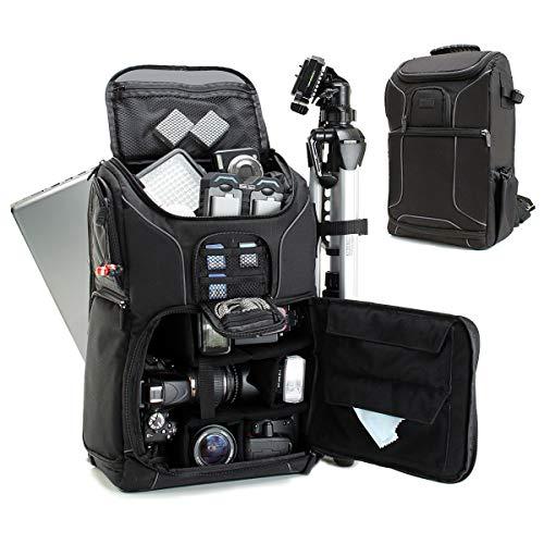 Mochila Cámara de Fotos Reflex DSLR USA Gear, Funda Resistente al Agua. Compartimento para Portátil y divisores para Meter un Drone,Tripode, Accesorios, Objetivos