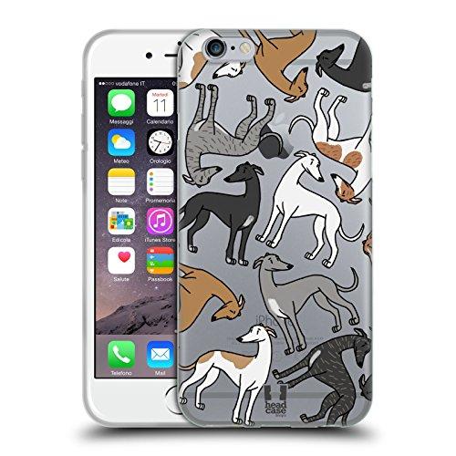 Head Case Designs Galgo Patrones de Raza de Perro 4 Carcasa de Gel de Silicona Compatible con Apple iPhone 6 / iPhone 6s