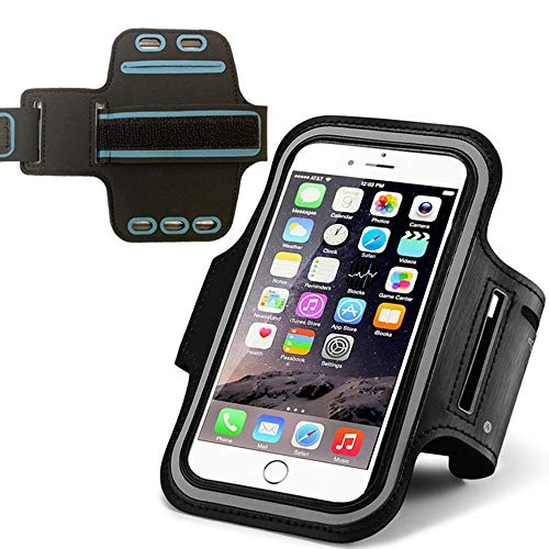 Running Armband for Huawei P Smart 2019 P30 Mate 10 Xiaomi Mi A3 Redmi 6 Pro Motorola moto g7 Power Adjustable Sport Phone Arm Case for Outdoor Sports Gym with Key Holder【Up To 6.1 Inches】