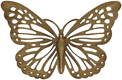 Amazon Com 3d Metal Wall Art Butterfly Wall Decor Blue Morpho Butterfly Handmade In The Usa For Use Indoors Or Outdoors Everything Else