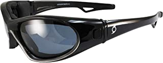 Hurricane Category-5 Jet Ski Water-Sport Floating Goggles Interchangeable from Sunglasses to Goggles with Polarized Smoke ...