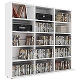 tidyard armadio porta cd scaffale porta cd dvd archiviazione libreria divisorio in truciolato 102x16x89,5 cm armadietto soggiorno moderno disponibile in tanti colori diversi