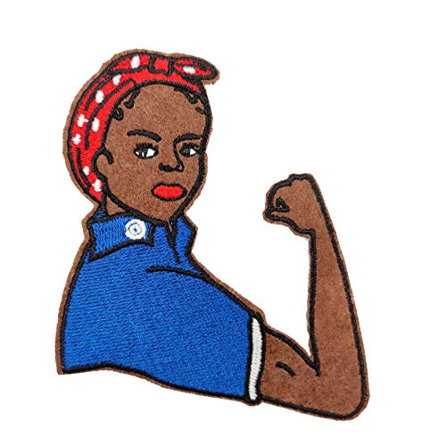 Cute-Patch BLM Black Lives Matter Anti Racist Fist Up Embroidered Iron on sew on Patch Black Power Girl Magic