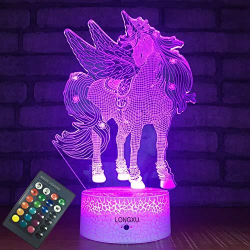 LONGXU Unicorn Gifts Lamps Night Lights for Kids Night Light...