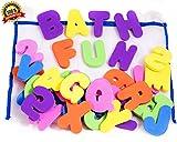 36 Letras y números de baño con organizador. Los mejores juguetes de baño...