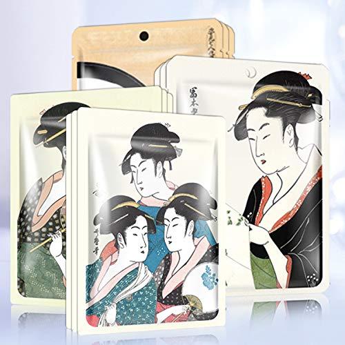 MITOMO Type C [Individueel verpakt JP UKIYOE proefset 12 vellen] Mooie huid gezichtsmasker - Gemaakt in Japan - Beloon jezelf, hydrateer je huid.