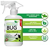 Bug-No-More | Natural Insect & Pest Control Spray | Ant Roach Termite Fly Mosquito Flea & Spider Killer | Organic Indoor Outdoor Pesticide I Home Patio Lawn & Garden Insecticide | Kid & Pet Safe |