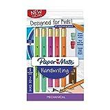 Paper Mate Handwriting Triangular Mechanical Pencil Set with Lead & Eraser Refills, 1.3mm, Fun Barrel Colors, 8 Count (2017484)