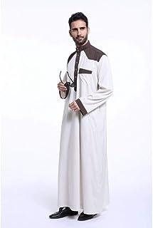 DAIDAICP Muslim Men'S Abaya Islamic Men'S Moslem Robe Loose Style Middle East Dubai Arab Clothing
