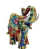 Figura Elefante Multicolor en Mosaico de la...