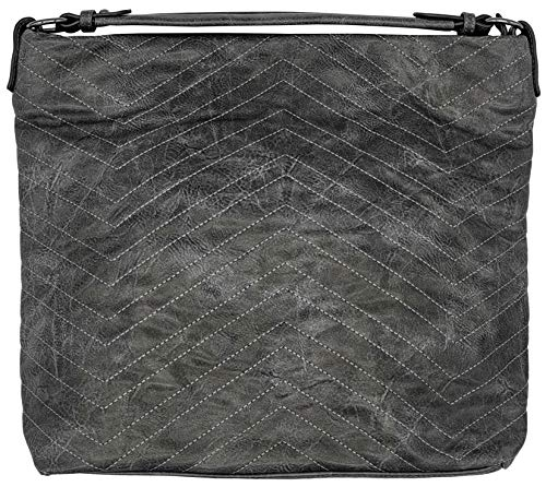 Phil Handtasche Shopper Tasche Shopperbag Umhängetasche (grau)