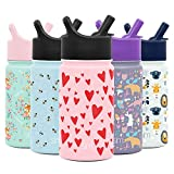 Simple Modern 14oz Summit Kids Water Bottles with Straw Lid Sippy Cup - Dishwasher Safe Vacuum...