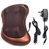 MECON SKY 2 in 1 Car&Home Body Massage Pillow neck massager cushion seat stress pain relief relax massage Car or Electronic Massage Pillow Massager 8 Ball Neck Shoulder Massager Back