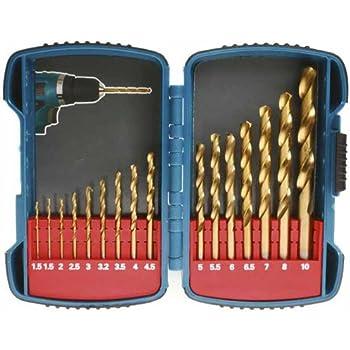 Multicolore b/éton d-08660 acier Makita 4653058 Coffret 9 forets cylindriques bois