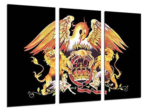 Poster Fotográfico Queen, Freddie Mercury, Brian May, Musica Rock Tamaño total: 97 x 62 cm XXL, Multicolor