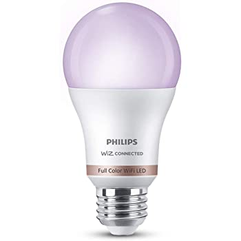 Philips Smart Wi-Fi LED Bulb E27 10-Watt WiZ Connected (16 Million Colors + Warm White/Neutral White/White + Dimmable + Pre-Set Modes) (Compatible with Amazon Alexa and Google Assistant)