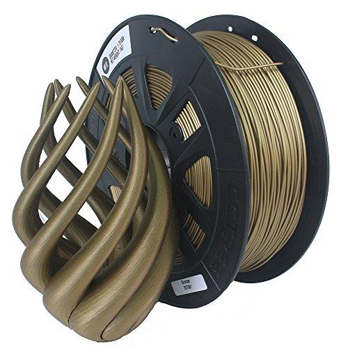 CCTREE 3D Printer Metal Bronze Filled Filament 1.75MM For Creality CR-10S,1kg Spool (2.2lbs), Bronze