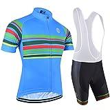 BXIO Los Jerseys de Ciclo - Transpirable Bici Corta Jersey Azul 5XL