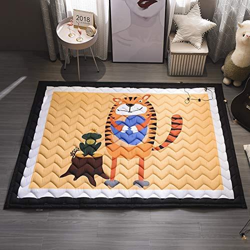 Baobe Stuoia del Gioco del Bambino del Cotone, Tappeto Bambini non molle Eccellente Antisdrucciolevole del Gioco di Grandi Dimensioni 145cm * 195cm * 1.5cm (arancia)