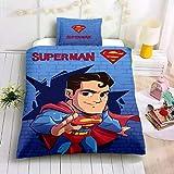 HDBUJ Gemälde Superman Bettbezug Und Kissenbezug, Polyester Bettwäsche-Set, Jugend Single King Bettwäsche-Set 240X220Cm
