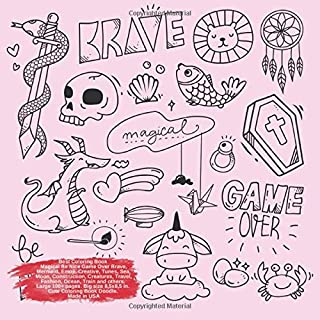 Best Coloring Book Magical Be Nice Game Over Brave, Mermaid, Emoji, Creative, Tunes, Sea, Moon, Construction, Creatures, T...