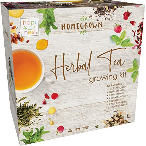 Herbal Tea Indoor Garden Seed Starter Growing Kit Gardening Gifts for Mom and...
