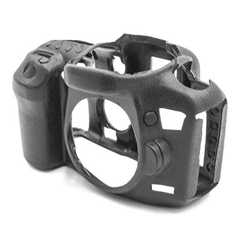 vhbw Photo Housse de Rechange Sac Compatible avec Canon EOS 7D Mark II Appareil Photo - Silicone Noir