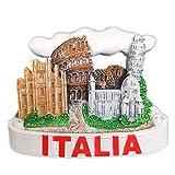 Weekinglo Souvenir Frigorífico Imán Roma Italia Resina 3D Artesanía Hecha A Mano Turista Viaje Ciudad Recuerdo Colección Carta Refrigerador Etiqueta