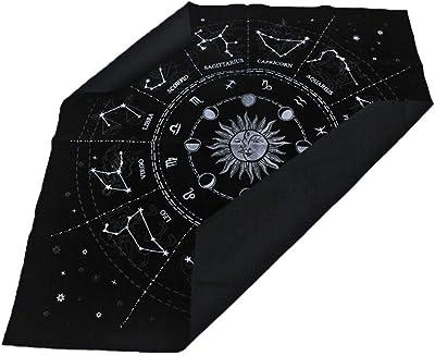 12 Constellations Tarot Card Tablecloth Board Game Velvet Divination Altar Cloth
