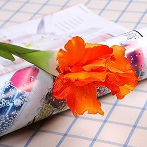 Silk Flower Arrangements Artificial and Dried Flower Artificial Iris Flower Brah Spring Wedding Decor Home Table Decoration Flores Silk Fake Flower Party Supplies - ( Color: Orange Iris )