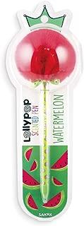 Ooly Sakox Lollypop Pom Pom Scented Ballpen - Watermelon - Black Ink Pen