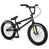 Eastern Bikes Nightwasp Bicicleta BMX de 20 pulgadas, negro, marco cromado completo