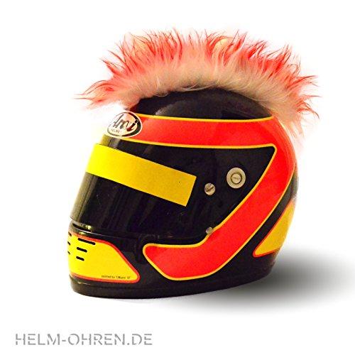 Helm-Irokese für den Skihelm, Snowboardhelm, Kinderskihelm, Kinderhelm, Motorradhelm oder Fahrradhelm – – Der HINGUCKER – Der etwas auffälligere Helm-Aufkleber – für Kinder und Erwachsene HELMDEKO (Rot) - 2