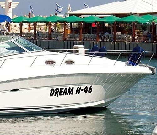 Bootsaufkleber Klebebuchstaben Bootskennzeichen Aufkleber Bootsnamen mit Vorschaufunktion designen
