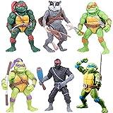 Tartarughe Ninja Set, 6PCS Teenage Mutant Ninja Turtle Action Figures Mini Giocattoli per la Decorazione CompleannoFesta Topper Decorativi Personalizzato Cake Topper per Matrimonio Festa di Compleanno