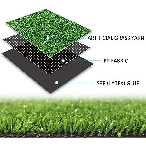 GL Artificial Grass Turf Lawn - 3FTX15FT(45 Square FT) Indoor Outdoor Garden Lawn Landscape Synthetic Grass Mat
