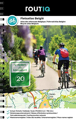 Fietsatlas België: Het meeste complete overzicht van alle fietsknooppunten en het gehele fietsnetwerk in Wallonië en Vlaanderen