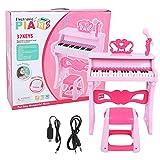 Tenpac Juguete de Piano Educativo temprano, Regalos para niñas Juguete de música Juguete de Aprendizaje de Piano, para niños Bebé(Upgraded Stereo Piano Pink)
