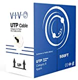 VIVO Black 500ft Bulk Cat6, CCA Ethernet Cable, 23 AWG, UTP Pull Box, Cat-6 Wire, Waterproof, Outdoor, Direct Burial CABLE-V012