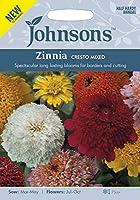 【輸入種子】 Johnsons Seeds Zinnia CRESTO MIXED ジニア(百日草) クレスト・ミックス ジョンソンズシード