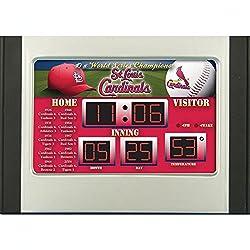 MLB Scoreboard Desk Clock (NG) MLB Team: St. Louis Cardinals