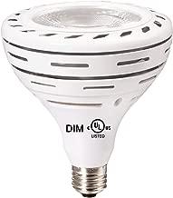 LeMeng Par38 Dimmable LED Pool Bulb Light, 300watts Halogen Bulb Replacement,30W Par 38 LED 3000LM 120V E26 Base, 3000K Warm White 36°Degree Spotlight,UL Certified,1 Pack